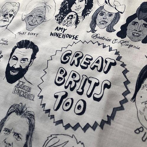 'Great Brits Too (2)' Tea Towel