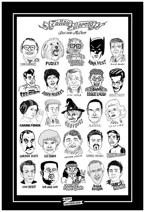 'Fallen Heroes 2017' Tea Towel