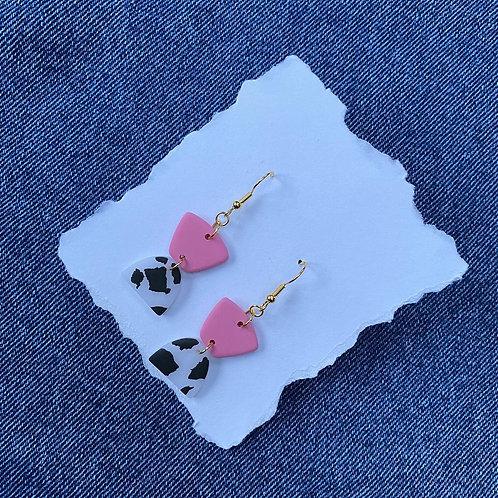 Cow Print Hook Earrings