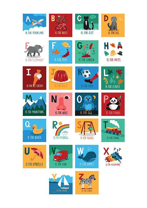 ABC children's poster