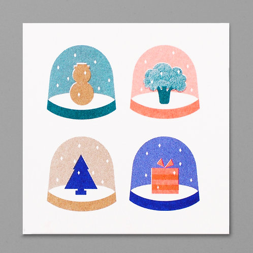 Snow globes Christmas card