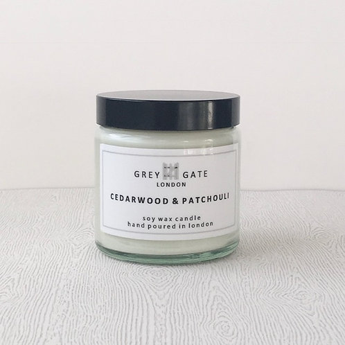 Cedarwood and patchouli small candle