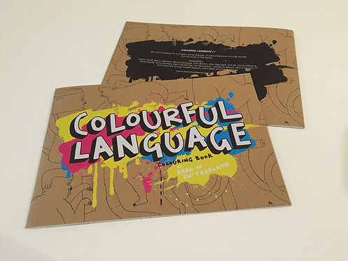 Colourful Language colouring book