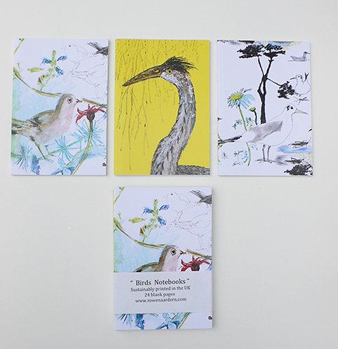 Bird notebooks (pack of 3)