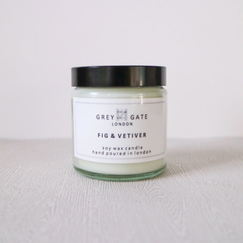 Fig and vetiver small candle