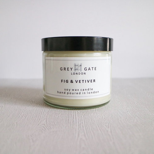 Fig and vetiver large candle