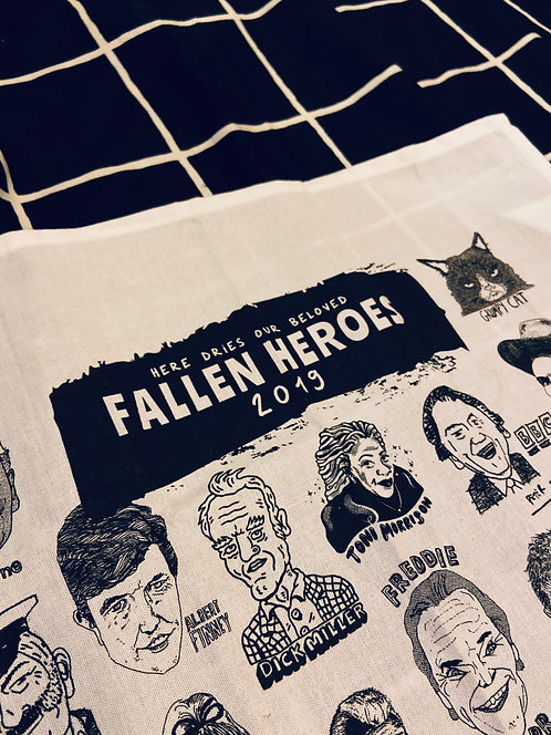 Fallen Heroes 2019 tea towel