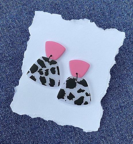 Cow Print Trapezium earrings