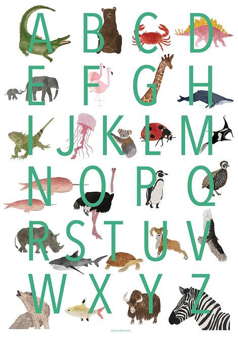 Alphabet animal chart