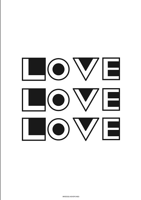 Geometric Love print