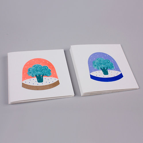 Brockley snow globe Christmas cards (pack of eight)