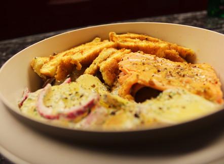 Forellenfilet mit Fenchel-Kartoffel-Salat