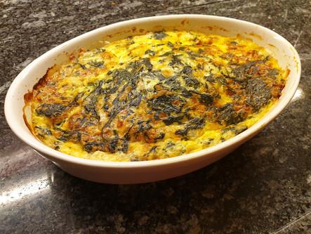 Low Carb: Quiche mit Spinat und Hüttenkäse