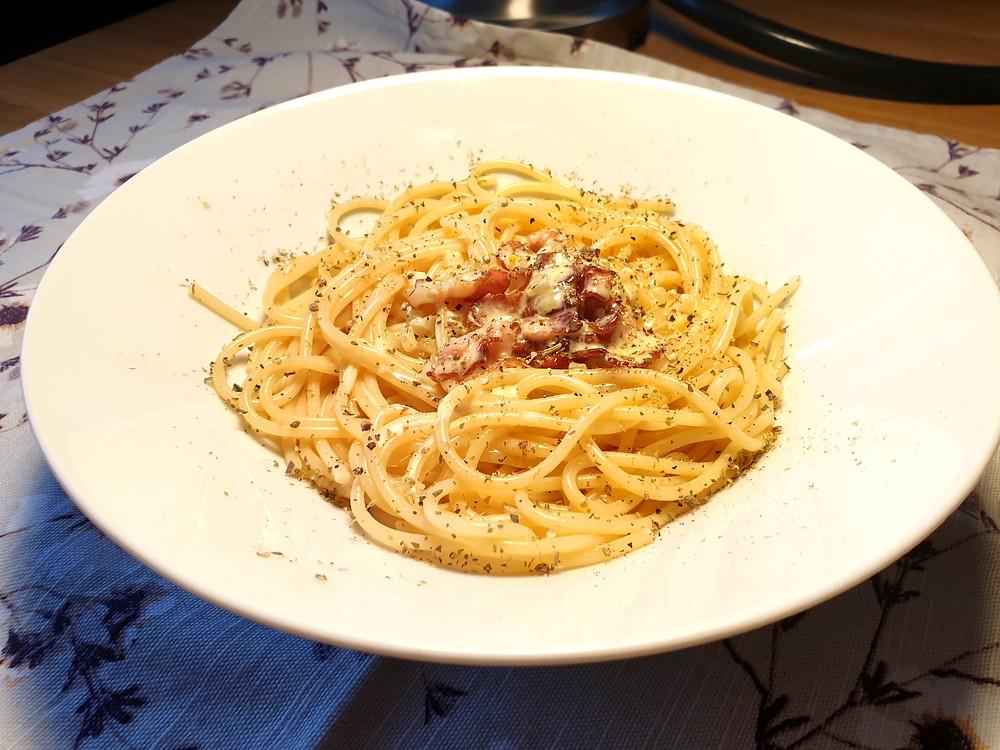 Schnell gemacht: Spaghetti Carbonara.