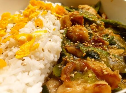 General Tso's Chicken mit Reis