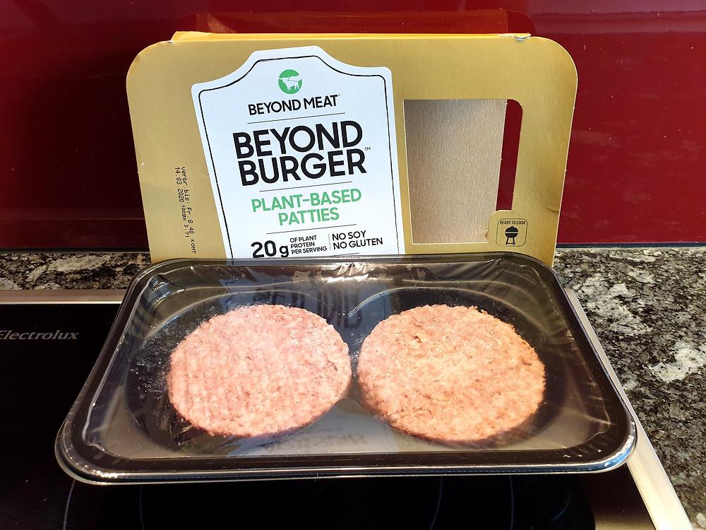 Der pflanzliche Beyond Meat Burger.