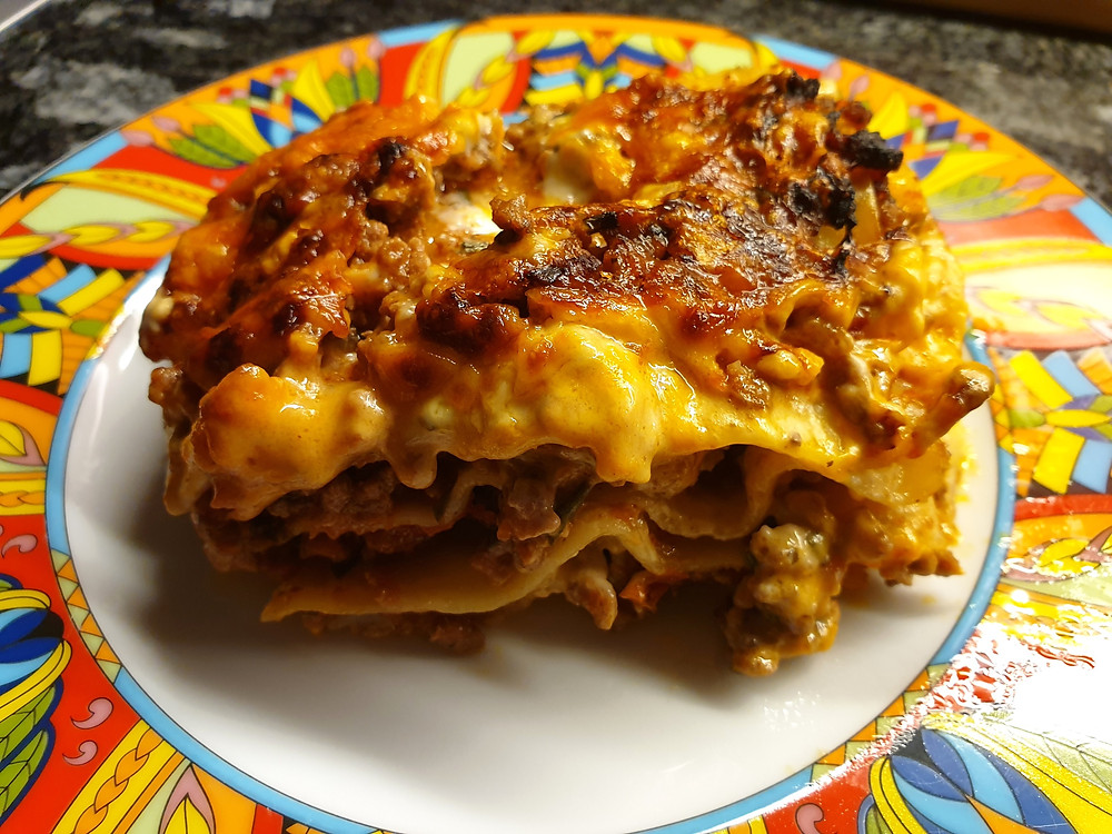 Pures Soulfood: Selbstgemachte Lasagne.