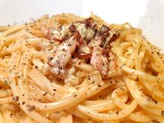 Spaghetti Carbonara mit knusprigem Speck