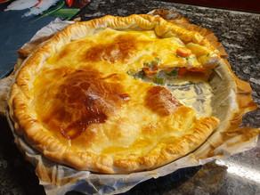 Poulet-Rahm-Pie mit Karotten und Sellerie