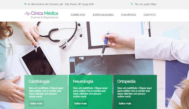 e67286ba66d4 Saúde website templates – Clínica Médica