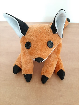 Fox plush - Stuffed fox toy - Fox soft sculpture - Stuffed toy - Plush toy