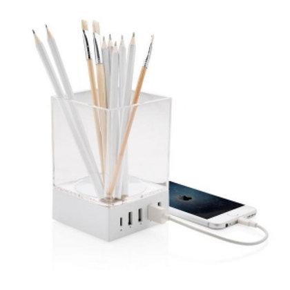 Porte-crayon chargeur USB