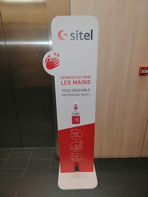 Porte produits sanitaires