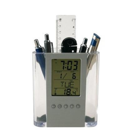 Pot à crayon/réveil LCD BUTLER