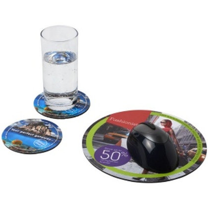 Ensemble de tapis de souris et de dessous de verre Q-Mat 5.