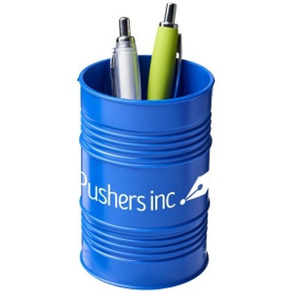 Pot à stylos Bardo en plastique style baril de pétrole