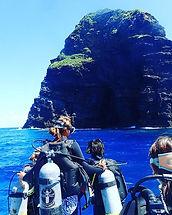 慶良間諸島、男岩 ウガン 巨岩 迫力満点 エントリー待ち