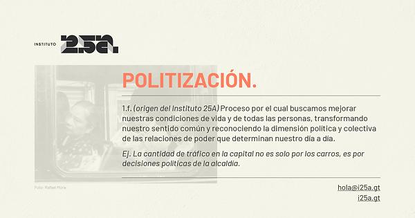 Definición politización
