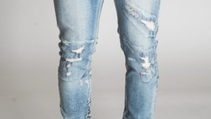 Ankle zipped jeans men's