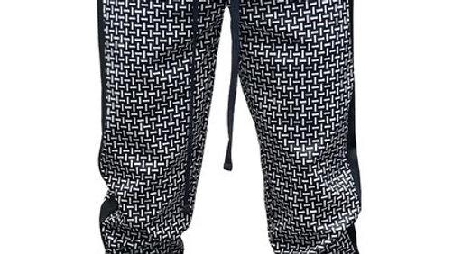 Black n white sweat pants