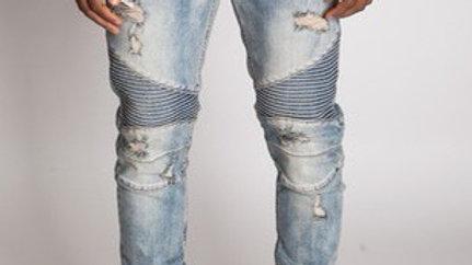 Men's ankle zip jean