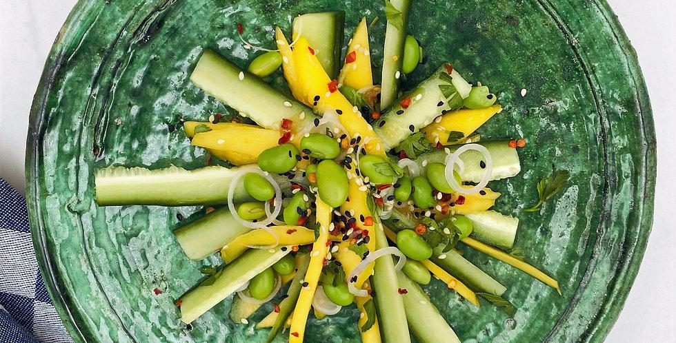 Dinsdag: Frisse mango-komkommer salade