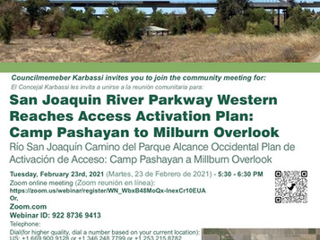 San Joaquin River Parkway Activation Plan Community Meeting