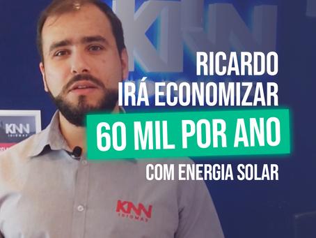 Com energia solar, Ricardo da KNN economizará cerca de 60mil por ano