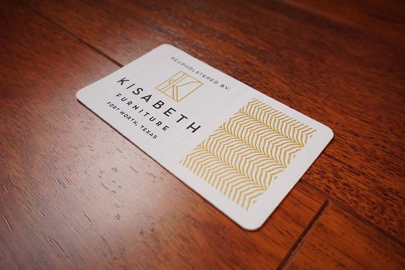 Die Cut Woven Deck Label