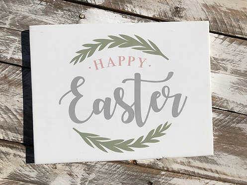 Easter Sign - Easter Decor - Happy Easter - Easter Bunny - Easter Rabbit - Farmh