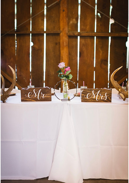 Mr & Mrs Sign - Wedding Sign - Head Table Signs - Wedding Reception Signs
