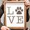 Thumbnail: Dog Lover - Paw Print Sign - Wood Sign - Pet Wood Sign