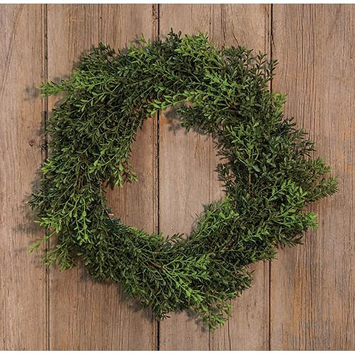 New England Boxwood Wreath, 17""