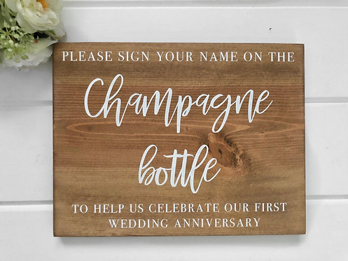 Guest Book - Champagne Bottle Guest Book - Wedding Sign - Wedding Decor