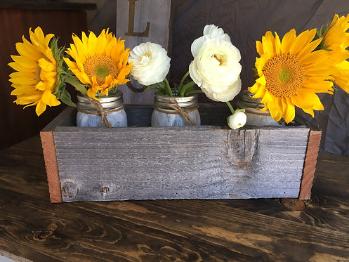 Reclaimed Mason Jar Box