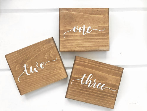 Wood Table Numbers -  Custom Table Numbers - Wedding Table Numbers