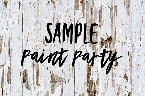 Sample Paint Party Sign up