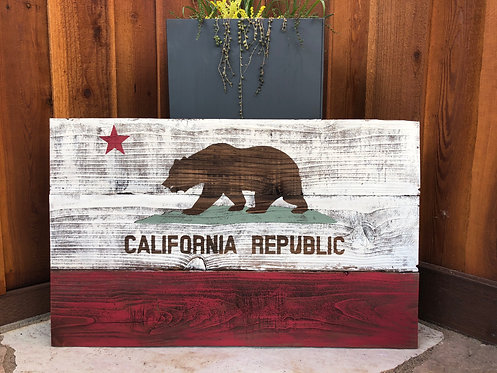 Rustic California Flags