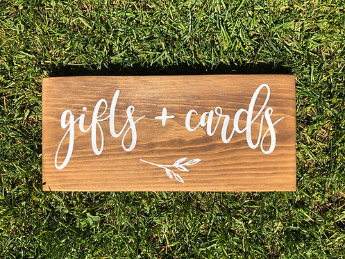 Gifts and Cards Sign - Wedding Sign - Wedding Decor