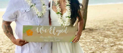 Elopement Sign - We Eloped - Personalized Wedding Sign